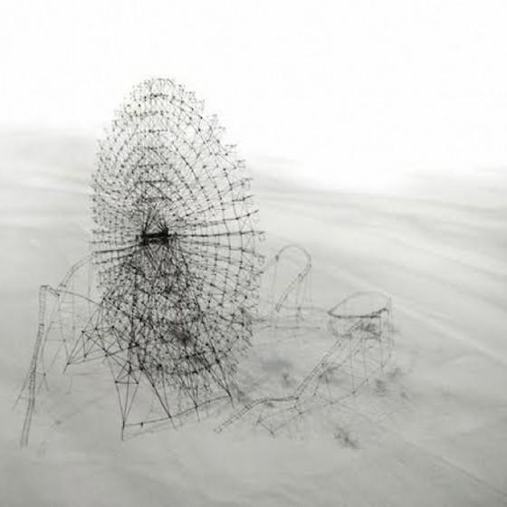 Takahiro Iwasaki Out of disorder (Cosmo World), 2011 capelli e fibre (© Casa Cavazzini)