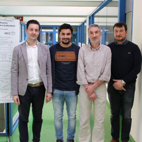 Da sinistra Marco Pavan, Matteo Bernardon, Stefano Mizzaro, Ivan Scagnetto