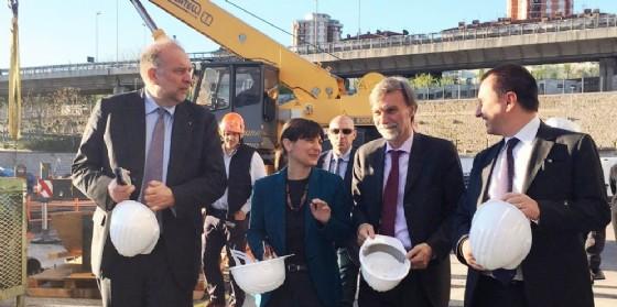 Il ministro Delrio insieme a Serracchiani, Rosolini e Rosato