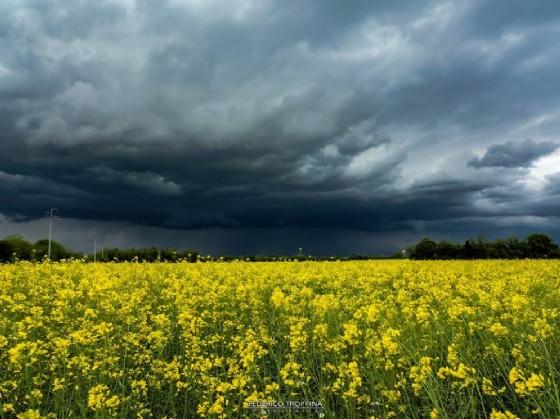 Temporale visto dalla zona di Zugliano (© Federico Troppina)