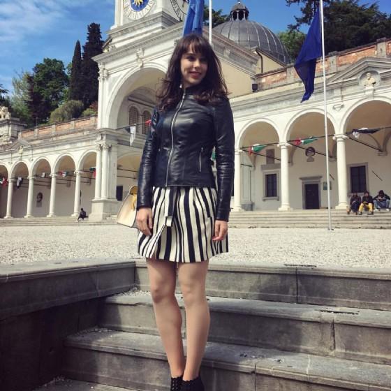 Stefanie Joosten in piazza Libertà a Udine (© Facebook di Stefanie Joosten)