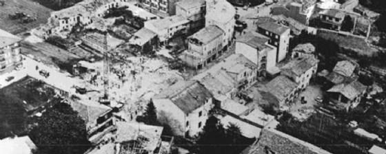 Majano dopo il terremoto del '76