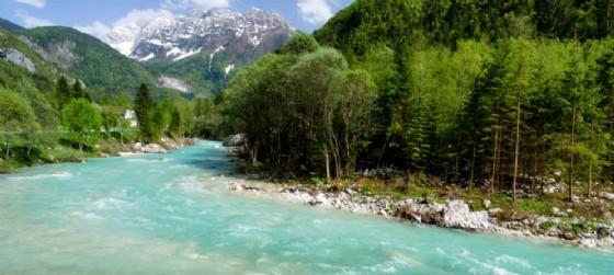 Uno dei paesaggi che circondano il fiume Isonzo
