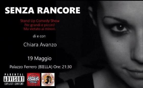Chiara Avanzo in «Senza Rancore»