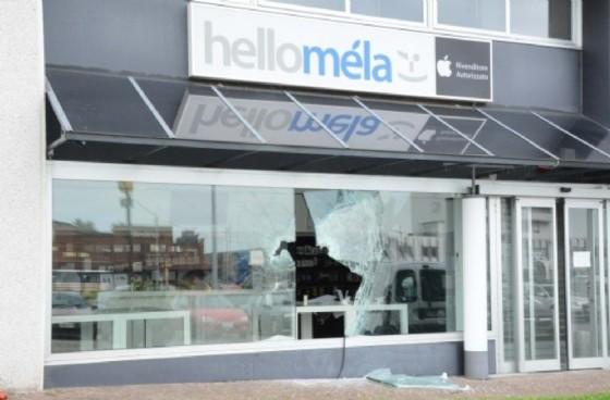 Il negozio preso di mira dai ladri (© Diario di Udine)