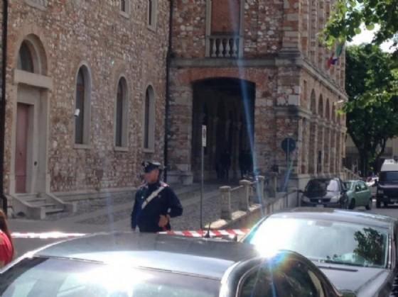 Il tribunale di Udine sgomberato (© Diario di Udine)