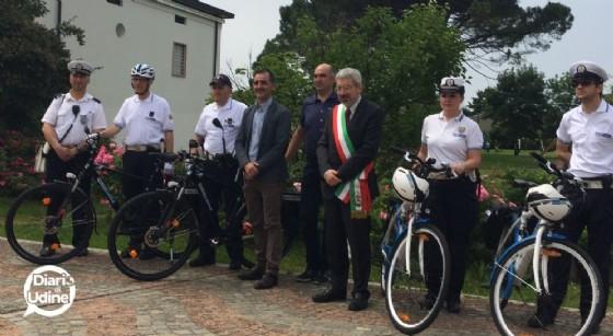 I vigili in bici del Comune di Udine