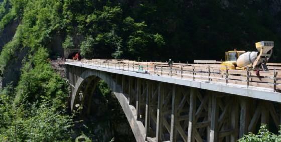 Il ponte in ristrutturazione