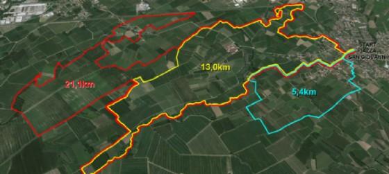 I tre percorsi di 5, 13 e 21 km della Vieni e cammina di San Giovanni di Casarsa