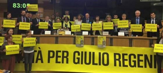 I genitori di Regeni al Parlamento Europeo (© Isabella De Monte - Facebook)