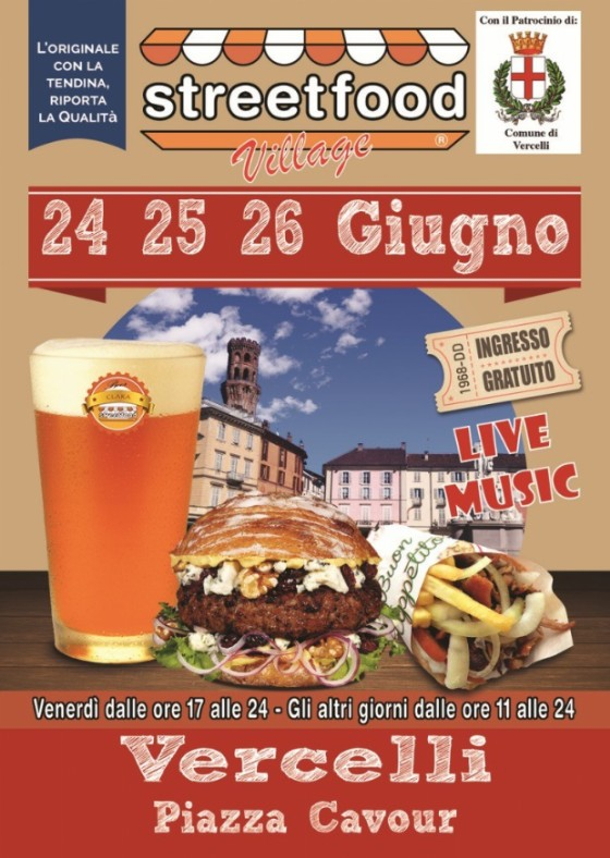 Streetfood Tour, la locandina di Vercelli