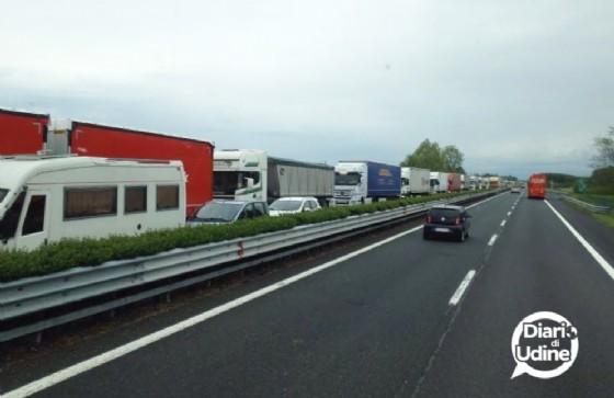 Colonna sulla A4