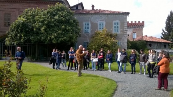 Uno scorcio del giardino di Palazzo La Marmora a Biella Piazzo