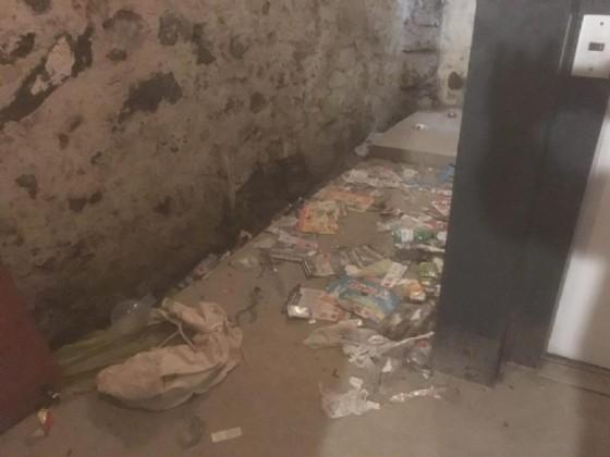 Immagine eloquente della situazione in via Marocchetti...