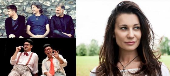 Alcuni dei protagonisti degli appuntamenti in programma giovedì 30 giugno (© In alto a sinistra, Visionario, in basso Tsu, a destra Giuli Barbier)