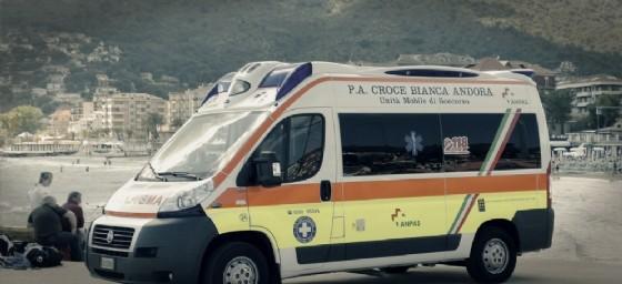 Un'ambulanza della Croce Bianca di Andora