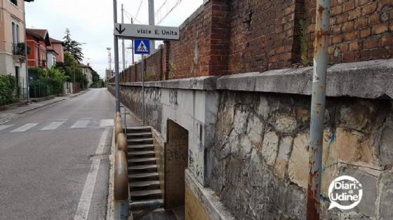 L'ingresso del sottopasso (© Diario di Udine)