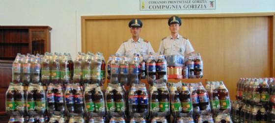 Le Fiamme gialle di Gorizia sequestrano 654 litri di birra al valico San Gabriele (© Guardia di Finanza | Comando provinciale Gorizia)