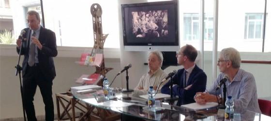 Sergio Bolzonello, Carlo Montanaro, Jay Weissberg, Livio Iacob alla presentazione delle Giornate del Cinema Muto 2016 (© Foto ARC Liberti)