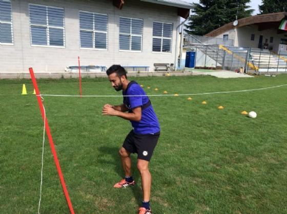 Pinzi si allena sul campo di Tavagnacco (© Upc Tavagnacco)