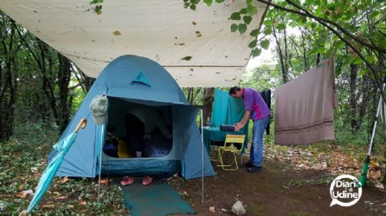 L'accampamento sulle rive del Cormor