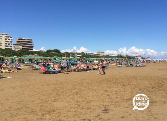 Un'immagine dela spiaggia di Lignano (© Diario di Udine)