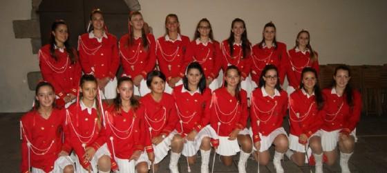 Le majorettes di cui anche Elisa faceva parte (© Anbima Fvg)
