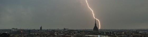 Un temporale si scatena su Torino