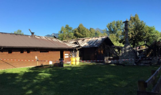 L'agriturismo il giorno dopo l'incendio