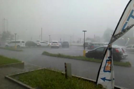 Pioggia e vento a Udine