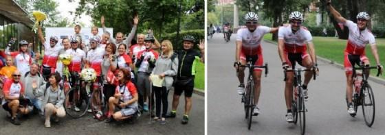L'arrivo dei ciclisti a Mosca (© Diario di Udine)