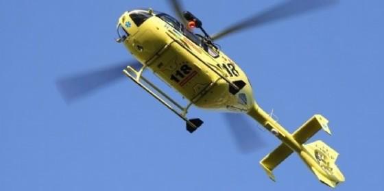 Il giovane è stato soccorso dall'elicottero del 118 (© Diario di Udine)