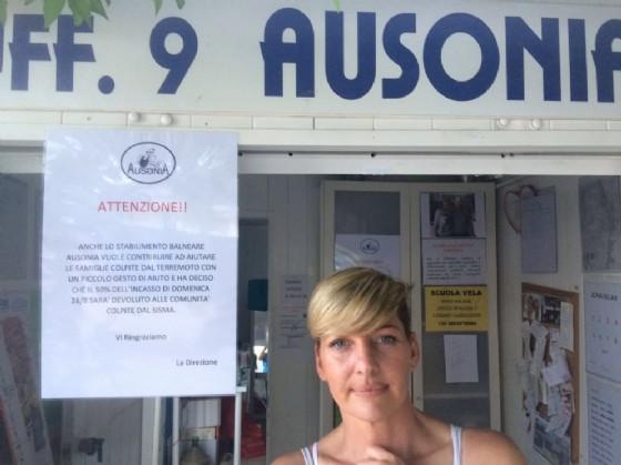La titolare dello stabilimento Ausonia di Lignano (© Diario di Udine)