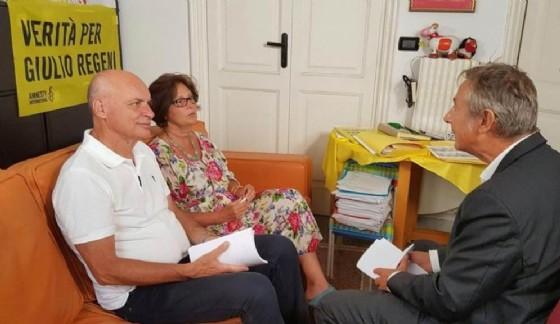 I genitori di Giulio Regeni intervistati da Iacona (© ANSA)