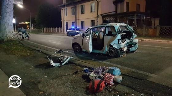 La 500 coinvolta nell'incidente di viale Palmanova