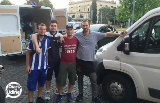 Il gruppo di friulani partito per Amatrice (© Diario di Udine)