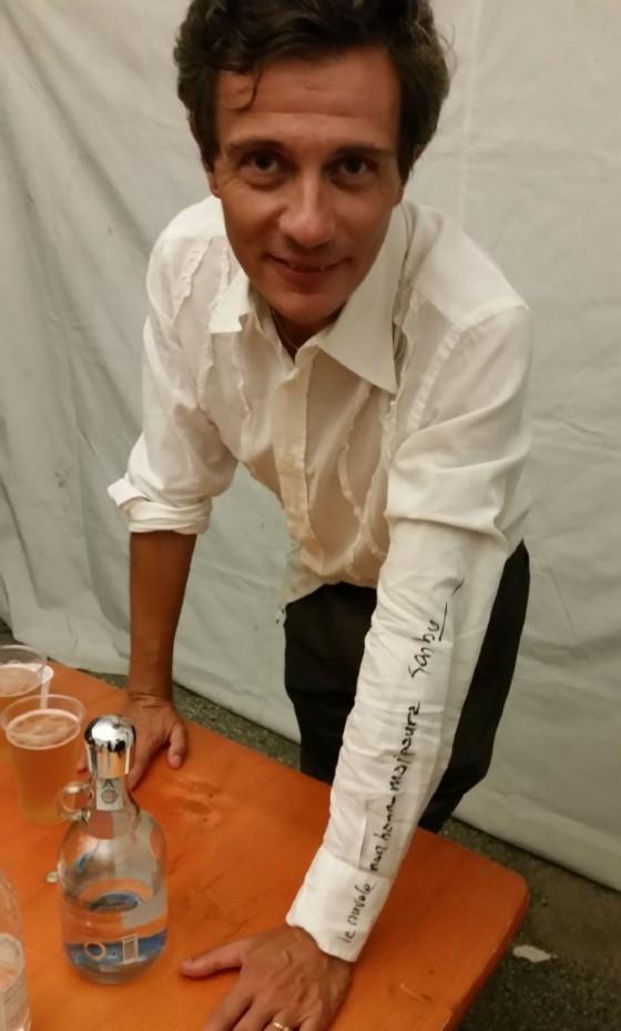 Massi Boscarol con l'autografo di Garbo