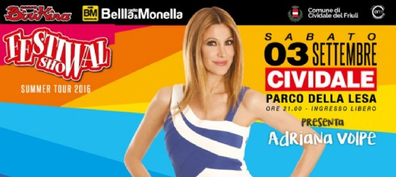 Festival Show 2016 sbarca a Cividale del Friuli, presenta Adriana Volpe (© Festival Show | Facebook)