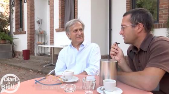 Un momento dell'intervista, con Paolo La Bua