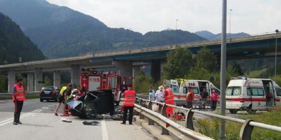 L'incidente tra moto e Ape
