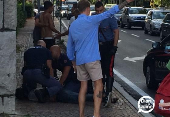 La foto si riferisce al primo atto di violenza, quello del 26 luglio (© Diario di Udine)