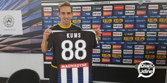 Il neo acquisto dell'Udinese Kums (© Diario di Udine)