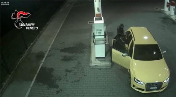 L'Audi gialla che creò scompiglio nel Nordest (© Carabinieri)