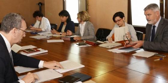 La giunta regionale riunita a Pordenone