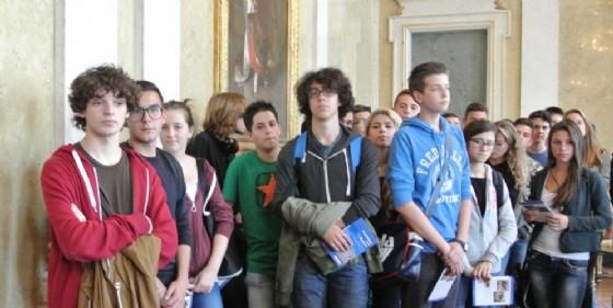 Alcuni studenti del Marinelli di Udine (© Diario di Udine)