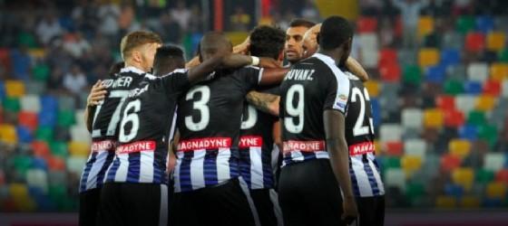 I giocatori dell'Udinese festeggiano (© Udinese)