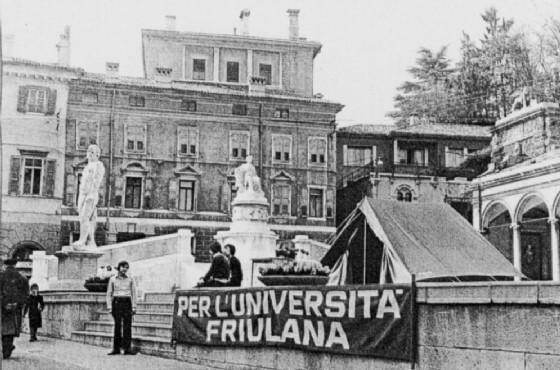 Dopo il terremoto la nascita dell'Università di Udine (© UniUd)