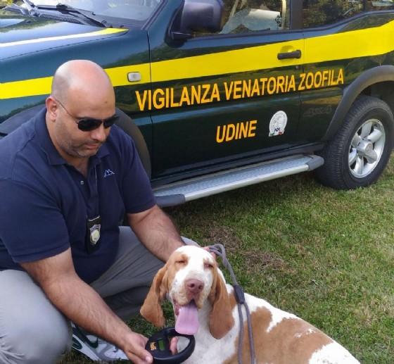 Uno degli agenti di Federcaccia della provincia di Udine (© Federcaccia)