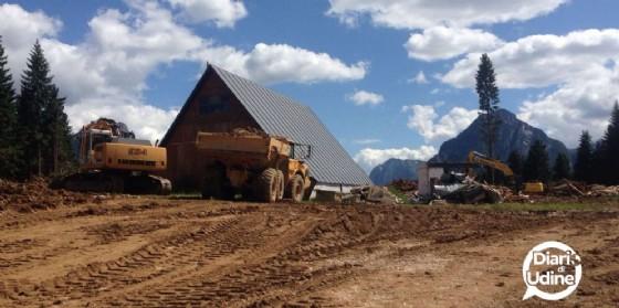 Ruspe al lavoro nei pressi del monte Lussari (© Diario di Udine)