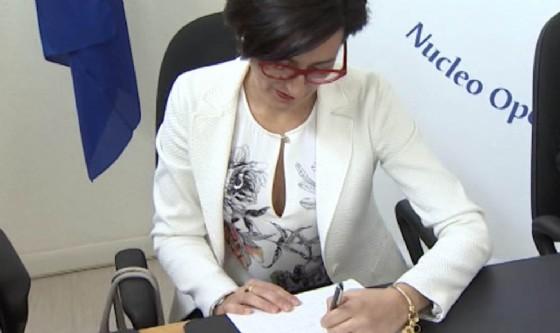L'assessore Sara Vito durante la firma del protocollo (© Montenero)